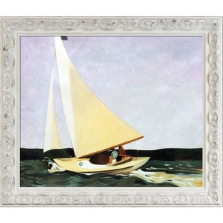 Edward Hopper 'Sailing, 1911' Hand Painted Framed Oil Reproduction on Canvas