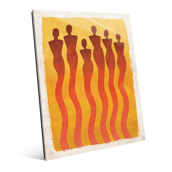 Wispy Women Orange Acrylic Wall Art Print