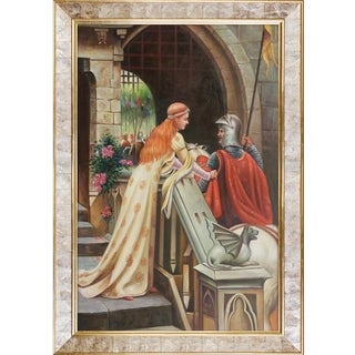 Edmund Leighton 'God Speed, 1900' Hand Painted Framed Oil Reproduction on Canvas
