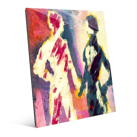 'Couple Figures Dusk' Acrylic Wall Art Print