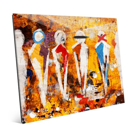 'Abstract Figure Lineup' Acrylic Wall Art Print