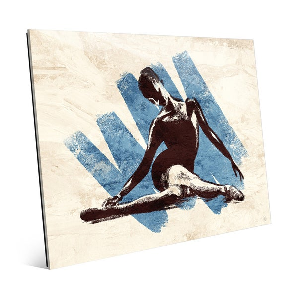 Stretching Ballerina Blue Acrylic Wall Art