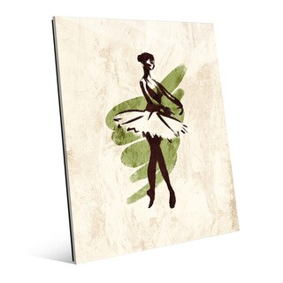 'Gestural Ballerina En Pointe' Print on Acrylic Wall Art (More options available)