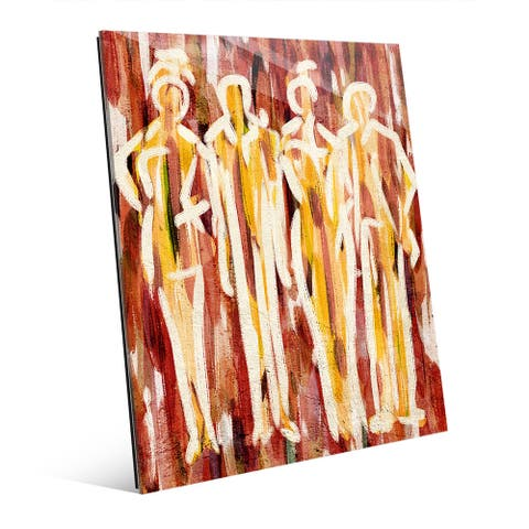 Abstract Group Red Acrylic Wall Art Print