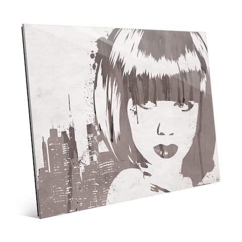'Lusty Drippy' Grey Acrylic Wall Art Print