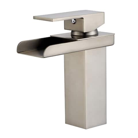 Single Hole Waterfall Sink Faucet with Handle