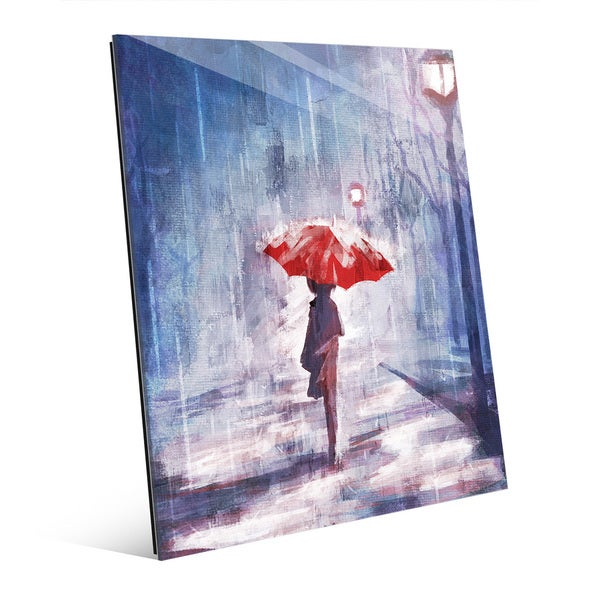 'A Rainy Walk' Acrylic Wall Art Print