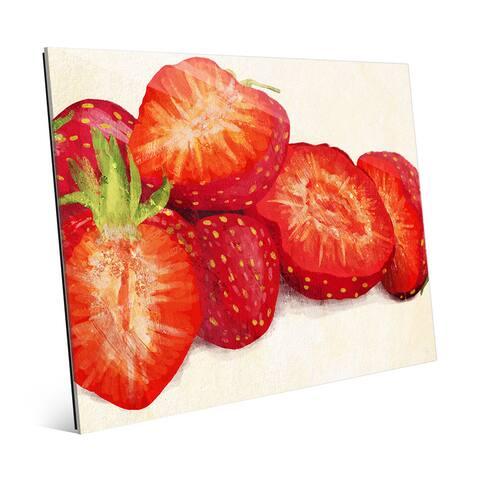 'Painted Strawberries' Acrylic Wall Art Print