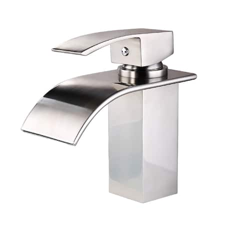 Waterfall Sink faucet with Built-In Handle