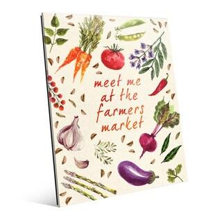 'Vegetable Farmer's Market' Acrylic Wall Art (More options available)