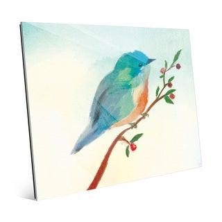'Turquoise Tinted Bird' Acrylic Wall Art Print
