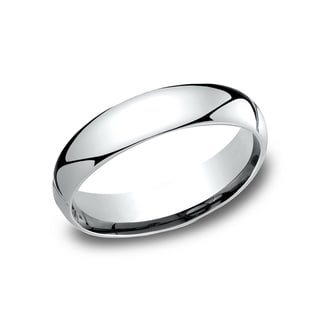 Men's 14k White Gold Comfort-fit Traditional Wedding Band