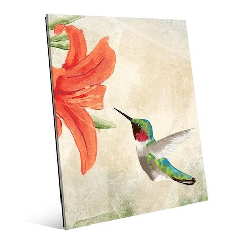 'Hummingbird Summertime' Acrylic Wall Art