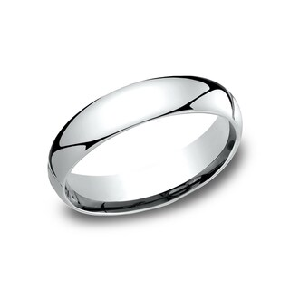 14k White Gold Comfort-fit Traditional Wedding Band