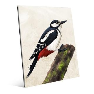 'Great Spotted Woodpecker' Acrylic Wall Art