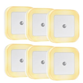Litom 0.5W Plug-In Square LED Nightlight (Pack of 6)