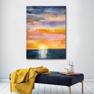 Glorious Sunset' by Norman Wyatt, Jr. Coastal Wrapped Canvas Wall Art