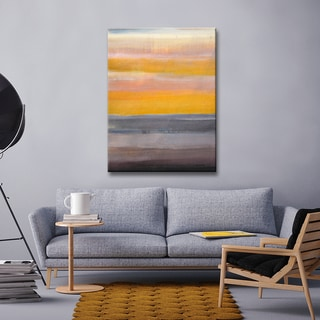 Desert Sunset' by Norman Wyatt, Jr. Abstract Wrapped Canvas Wall Art