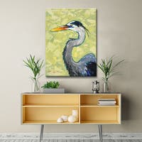 Blue Heron' Coastal Wildlife Canvas Art