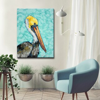 Ready2HangArt 'Pelican' Wrapped Canvas Art - Blue/Multi-color