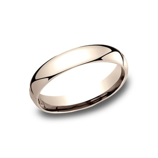 Men's 14k Rose Gold Comfort-fit 4mm Traditional Wedding Band