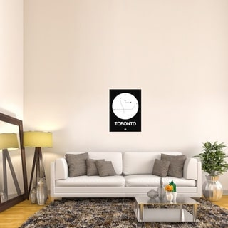 Naxart Studio 'Toronto White Subway Map' Gallery-wrapped Stretched Canvas Wall Art