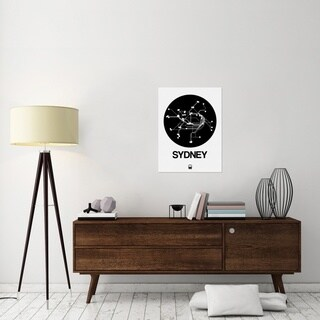 Naxart Studio 'Sydney Black Subway Map' Stretched Canvas Wall Art