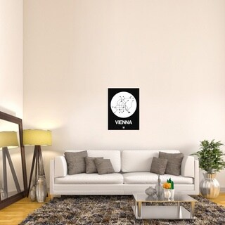 Naxart Studio 'Vienna White Subway Map' Stretched Canvas Wall Art