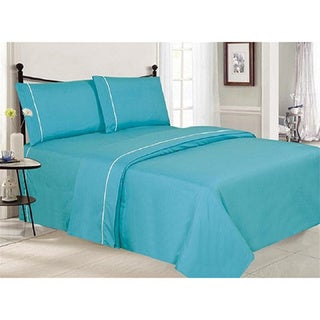 Silver Orchid Leigh Wrinkle Free Double-Brushed 4-piece Sheet Set