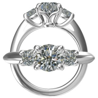 Sterling Silver 1ct TGW Round Cubic Zirconia Ring