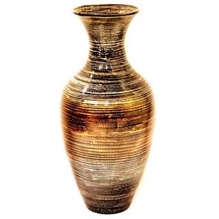 "25.2"" Spun Bamboo Vase in Classic Water Jar shape."
