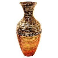 "25.2"" Spun Bamboo Vase in Classic Water Jar shape."