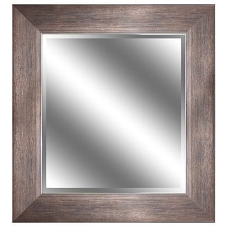 Oil Rubbed Bronze Framed Beveled Wall Mirror (24 x 36)