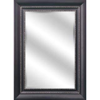 Black and Silver Beveled Wall Mirror