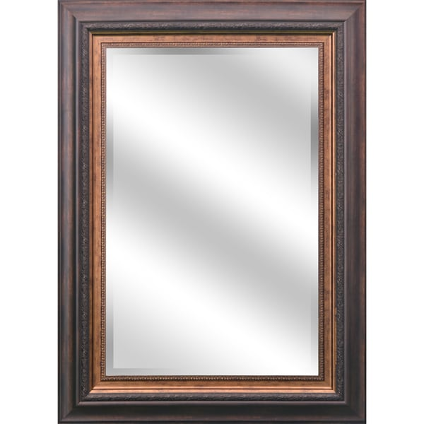 Y decor reflection 24 x 36 x 1 inch bevel mirror with 5 for Mirror 84 x 36