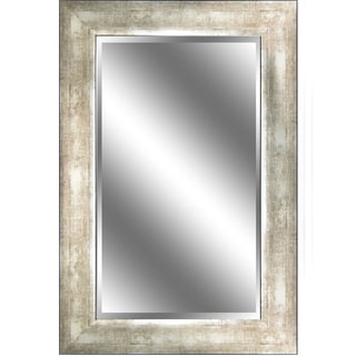 Rectangular Champagne Beveled Wall Mirror