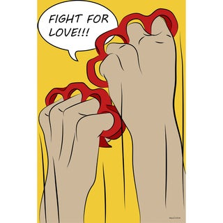 Maxwell Dickson 'Fight for Love' Modern Canvas Wall Art