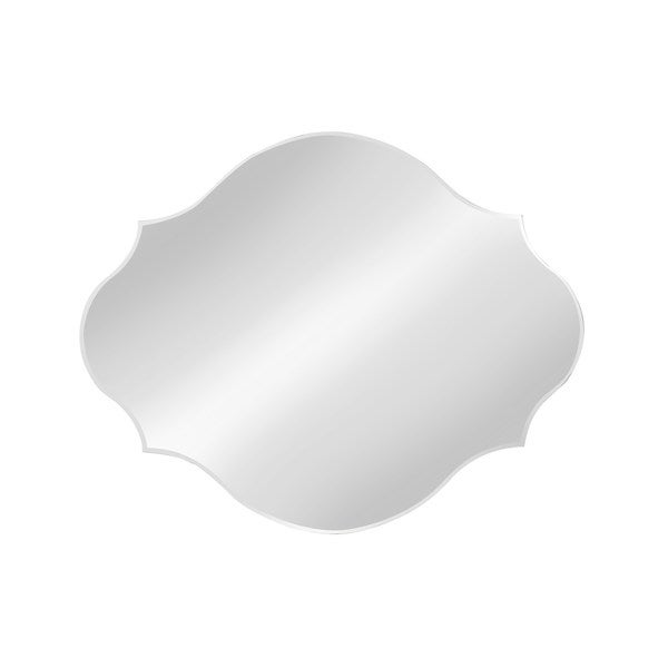 Silver Orchid Ames Frameless Oval Scalloped Bevel