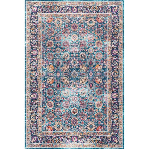 nuLOOM Traditional Lily Floral Area Rug