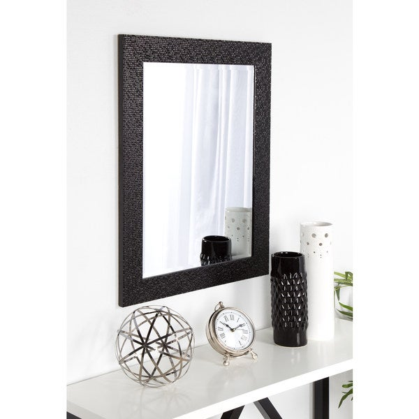 DesignOvation Coolidge Framed Wall Vanity Beveled Mirror - 23x29