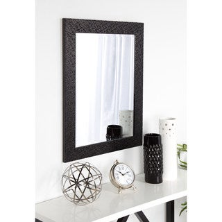 DesignOvation Coolidge Framed Wall Vanity Beveled Mirror