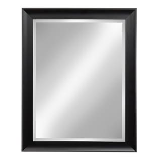 DesignOvation Black-framed Beveled Wall Mirror