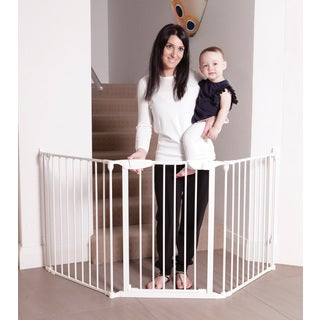 Dreambaby Newport Adapta White Metal Gate