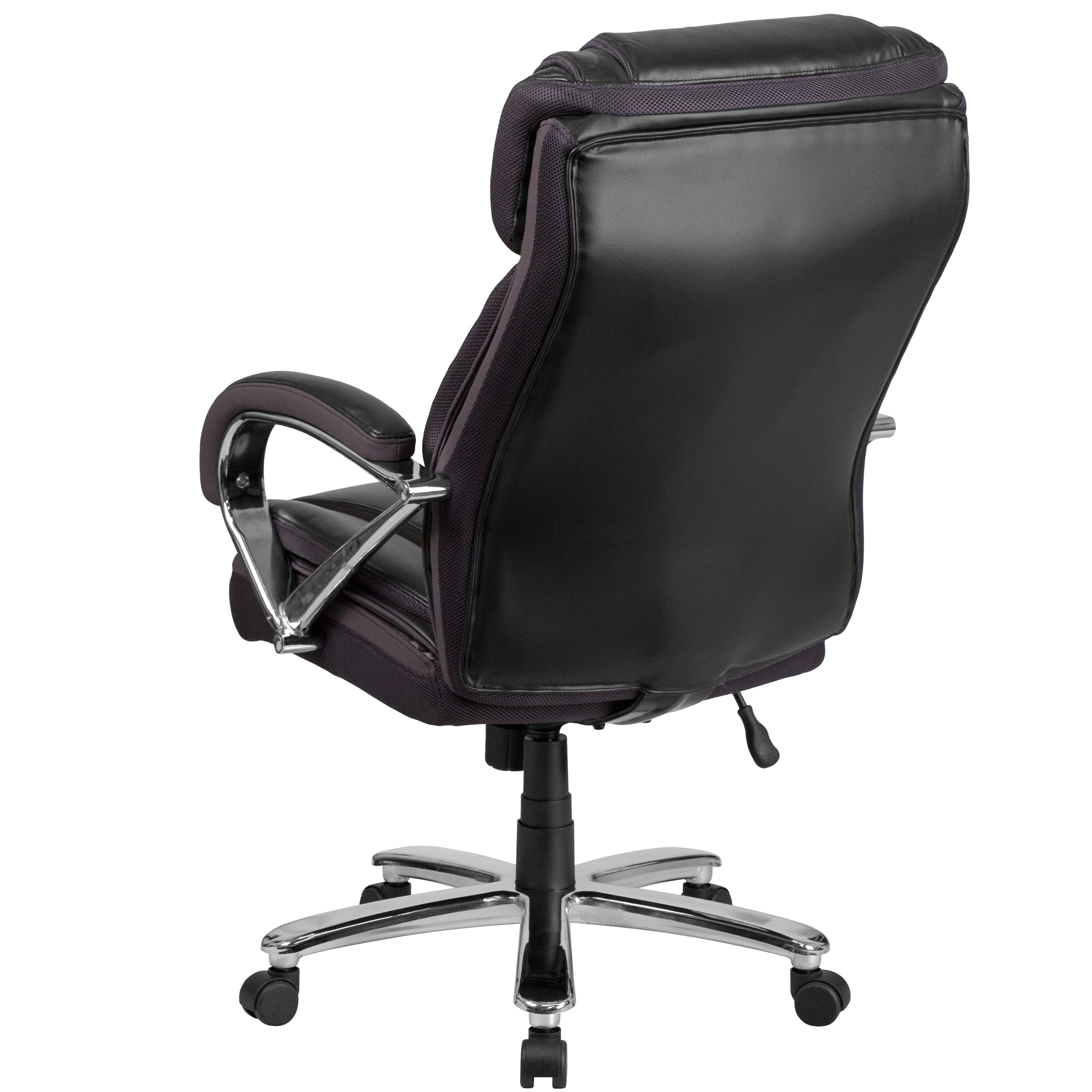 Big /& Tall Black Leather Executive Office Chair Extra Wide Seat 500 Lbs Capacity