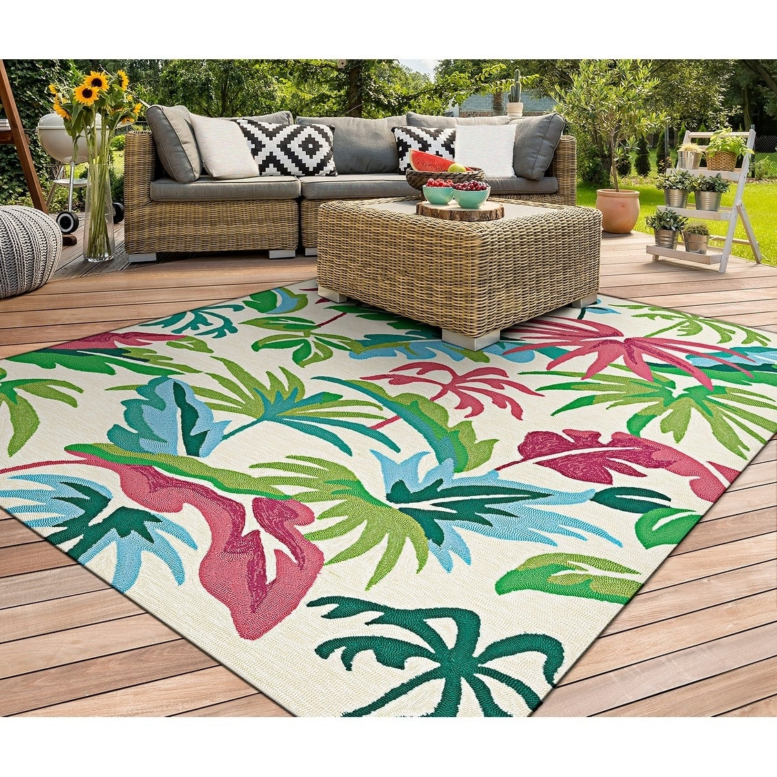 Couristan Covington Fiji/Ivory Multi Indoor/Outdoor Area ...