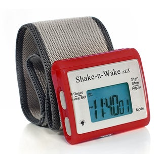 Tech Tools PI-107 Shake-n-Wake Red Silent Vibrating Alarm Wrist Watch