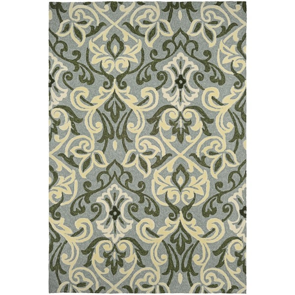 Couristan Covington Amelie Sage Indoor/Outdoor Area Rug - 8' x 11'
