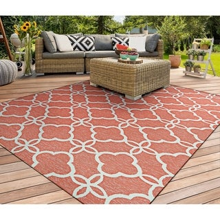 Couristan Covington Meadowlark/Punch-Ivory Indoor/Outdoor Rug - 2' x 4'