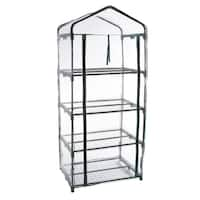 Pure Garden 63-inch 4-tier Mini Greenhouse with Cover