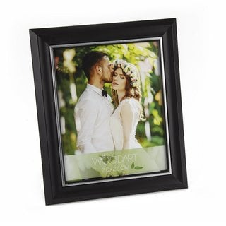 WOODART Pine Wood Picture Frame with Silver Inlay